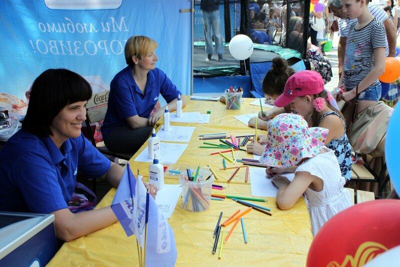 Конкурс детских рисунков на Крещатике