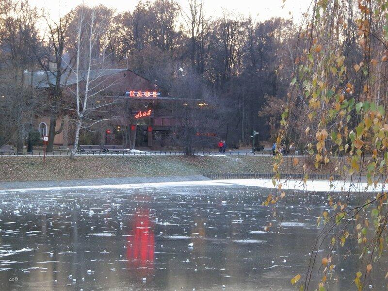 Парковый пруд при усадьбе графа Шереметева Останкино и Лав-Кафе