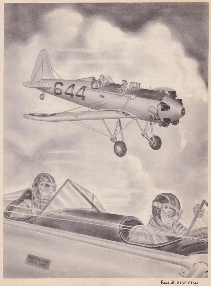 Ryan PT-22 Recruit - учебно-тренировочные самолеты
