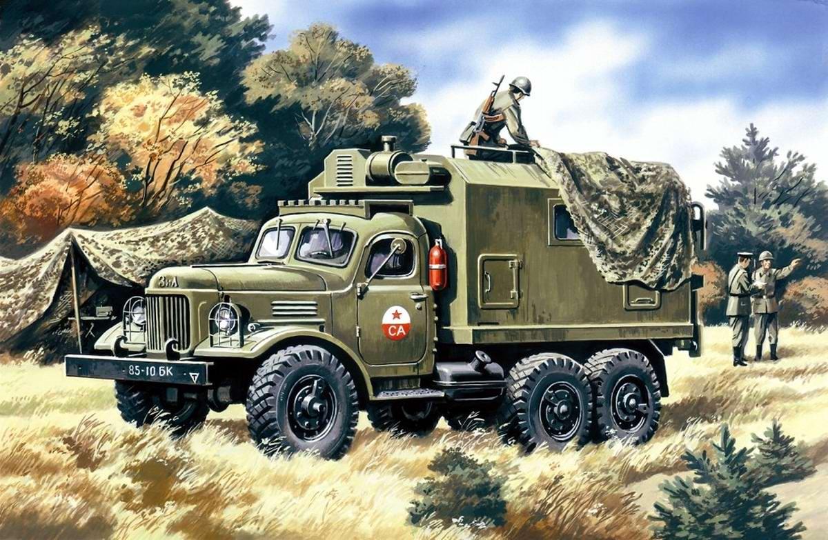 Армейский грузовой автомобиль ЗИЛ 157 - Подвижный командный пункт