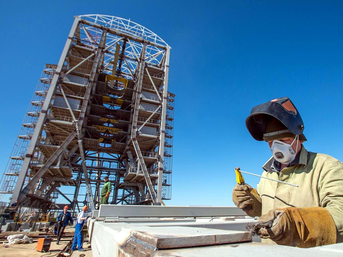 Космодром Восточный в Амурской области: ход строительно-монтажных работ и вид изнутри (1)