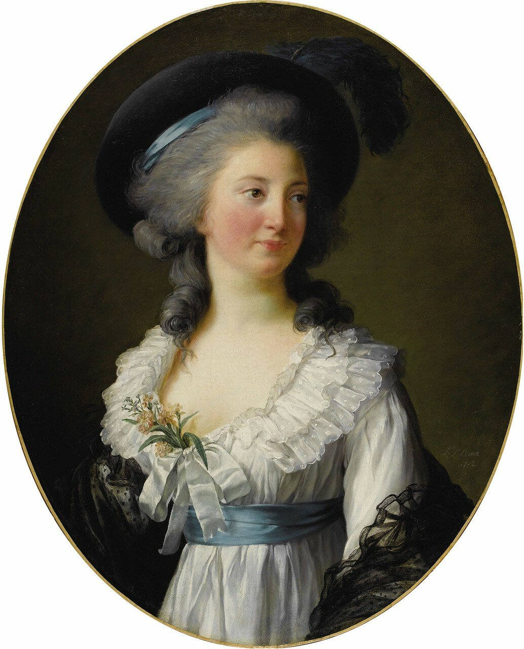 ELISABETH LOUISE VIGÉE-LEBRUN (French 1755 - 1842) Portrait of Madame de Moreton, La Comtesse Moreton de ChabrillanSigned E. L. LeBrun and dated 1782