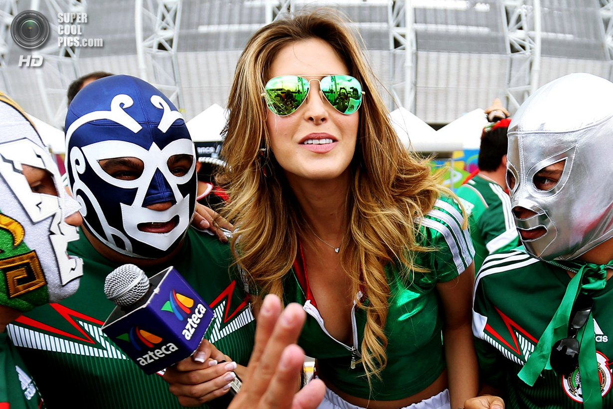 Fans arrive at Castelao Arena in Fortaleza, hours before the second Group A game of the World Cup between Brazil and Mexico