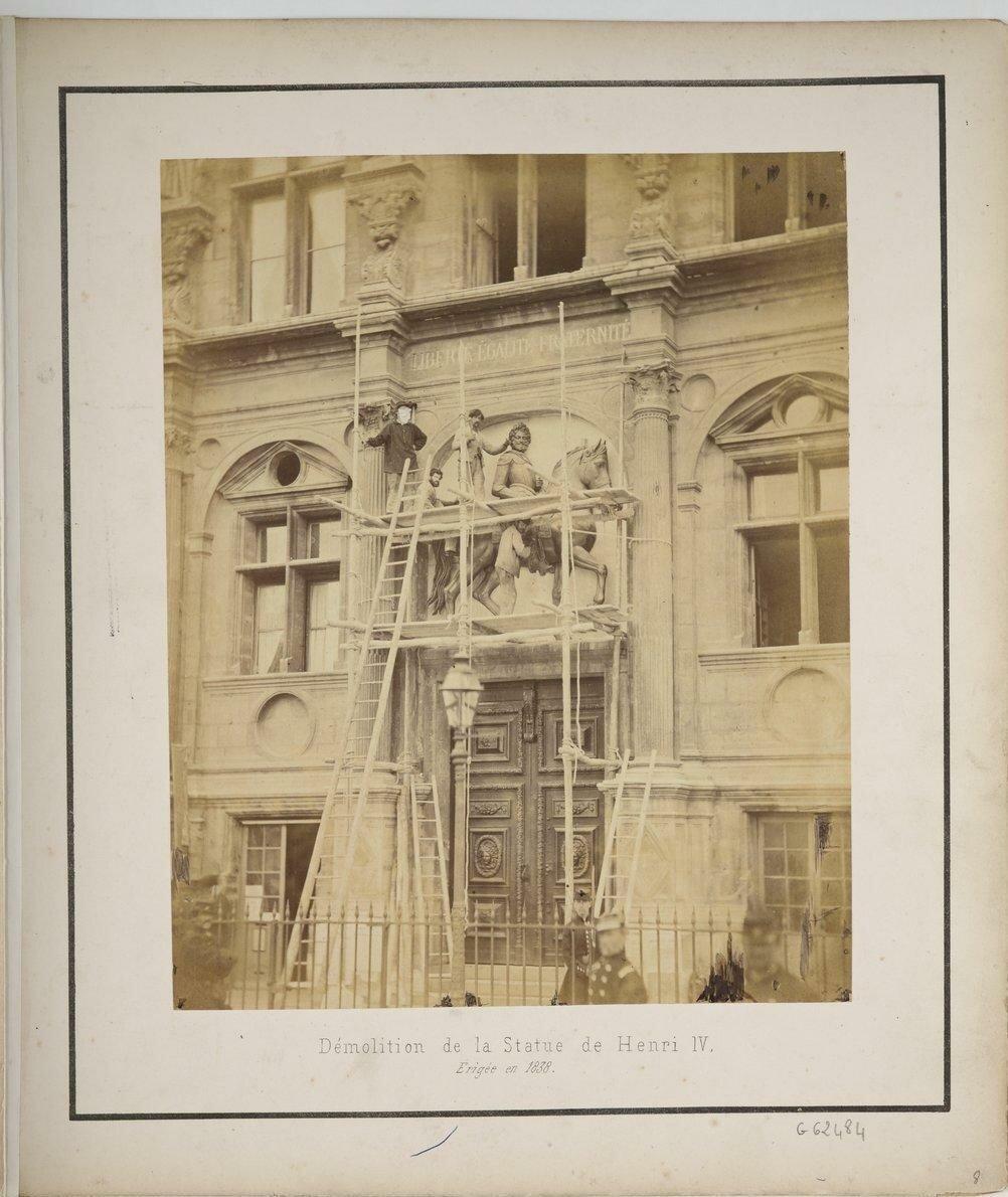 Уничтожение статуи Генриха IV.