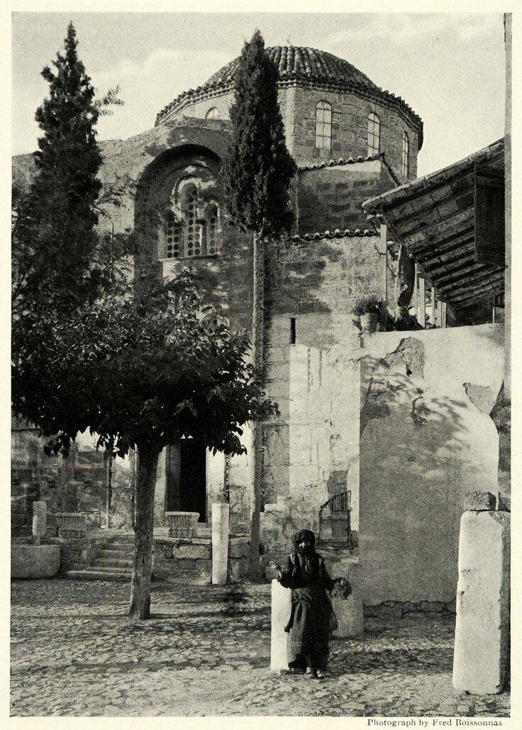 1922. Монастырь Дафни на Священном Пути
