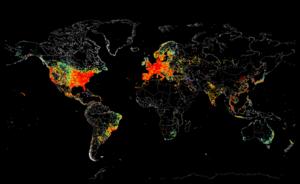 Визуальная интернет-концентрация мира