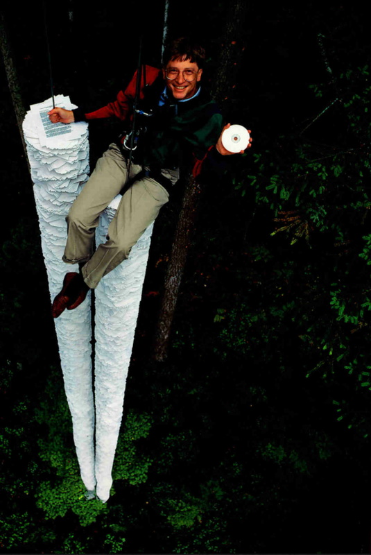This CD-ROM can hold more information than all the paper that's here below me- Bill Gates,1994.png