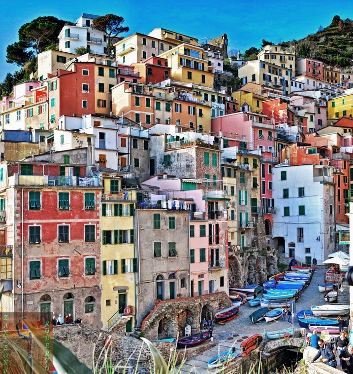 The seaside village of Riomaggiore