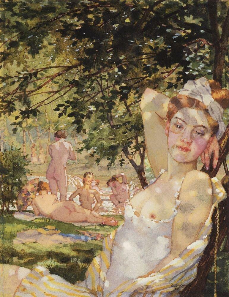 Купальщицы на солнце. 1930.jpg