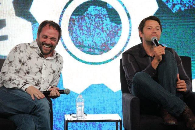 Фотографии актеров сериала «Сверхъестественное» на встрече Nerd HQ 2014 года