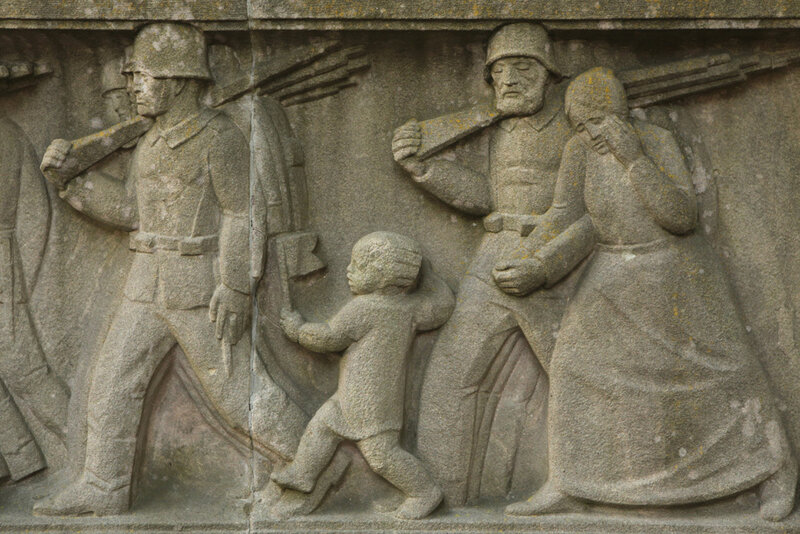 Мемориал павшим немецким солдатам в городе Хасфурт Баварии