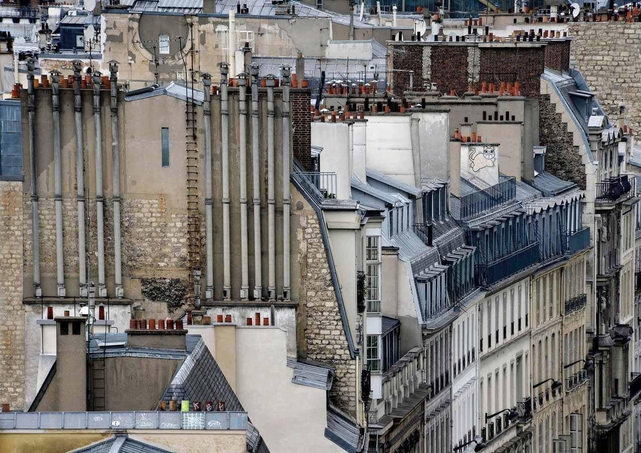Парижские крыши от фотографа Michael Wolf