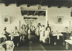 Раненые в палате Евгенинского госпиталя № 1 имени  Ее императорского высочества великой княгини Ольги Александровны