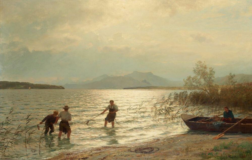 Hans-Fredrik-Gude-Norway-1825-1903-Fishing-by-the-shore.jpg