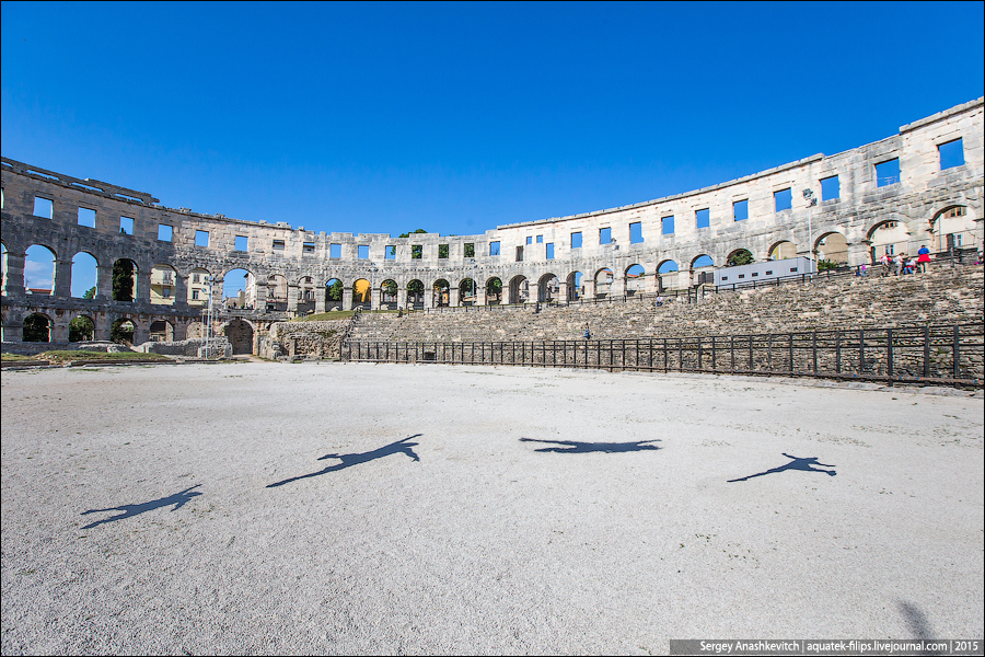 Roman Amphitheater of Pula city / Римский амфитеатр в Пуле