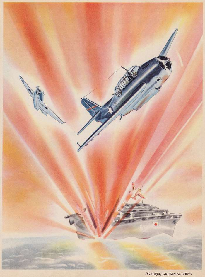 Grumman TBF-1 Avenger - бомбардировщики-торпедоносцы