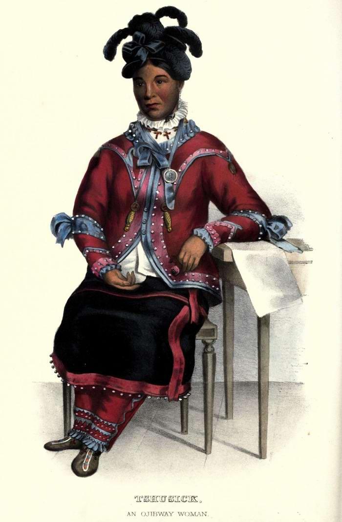 Женщина из племени Ojibway
