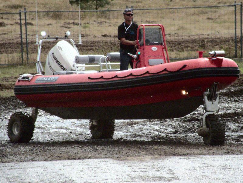 Лодка на колёсах
