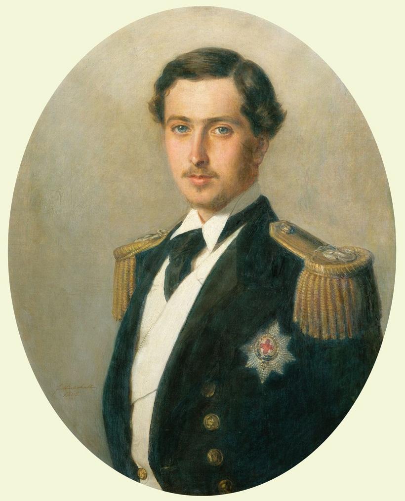 Принц Альфред (1844-1900), позже герцог Эдинбургский  Подпись и дата +1865