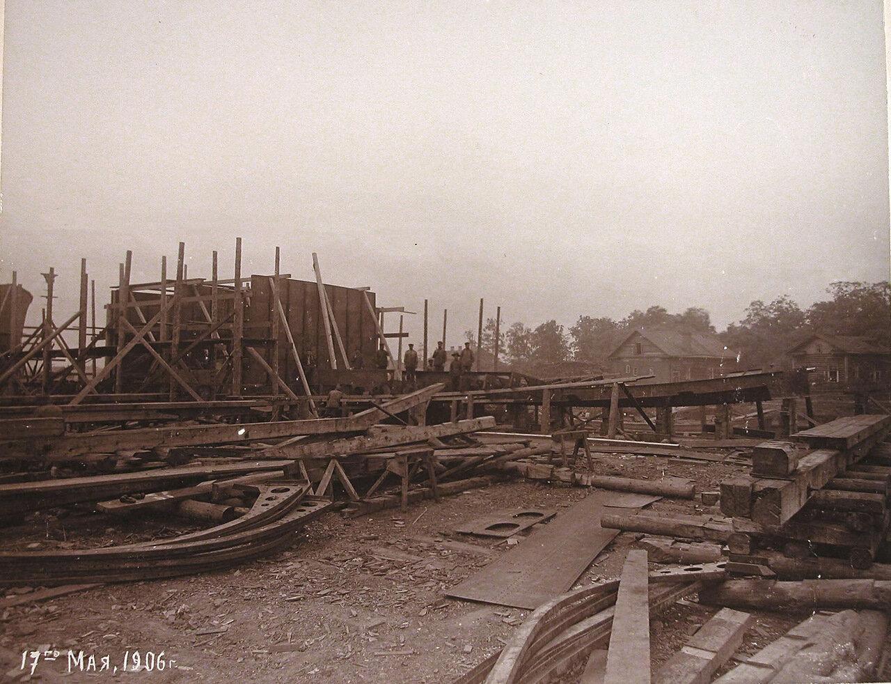 20.  Постройка канонерской лодки «Кореец» на стапеле Путиловского завода. 17 мая 1906