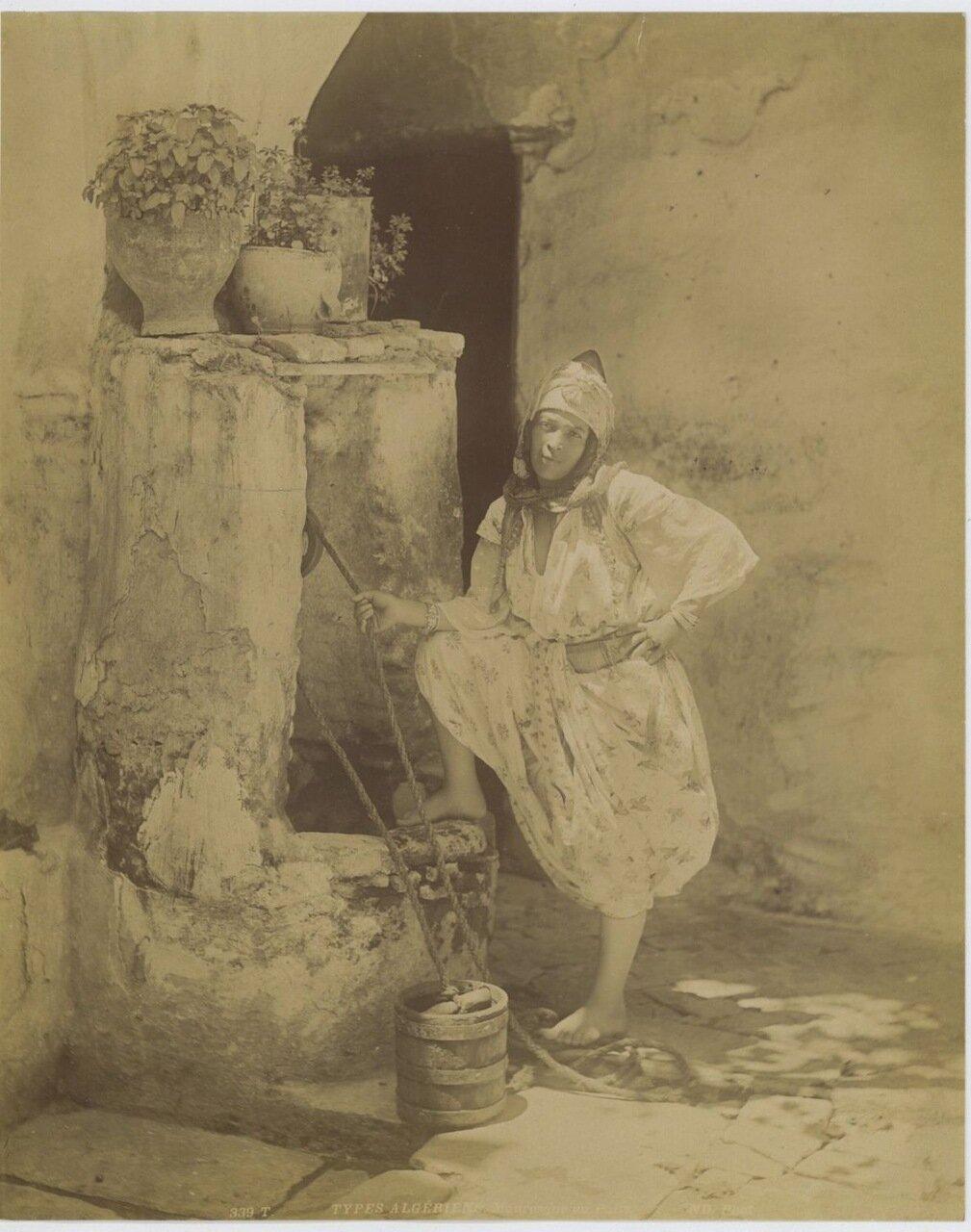 1880. Типы алжирцев. Мавританец