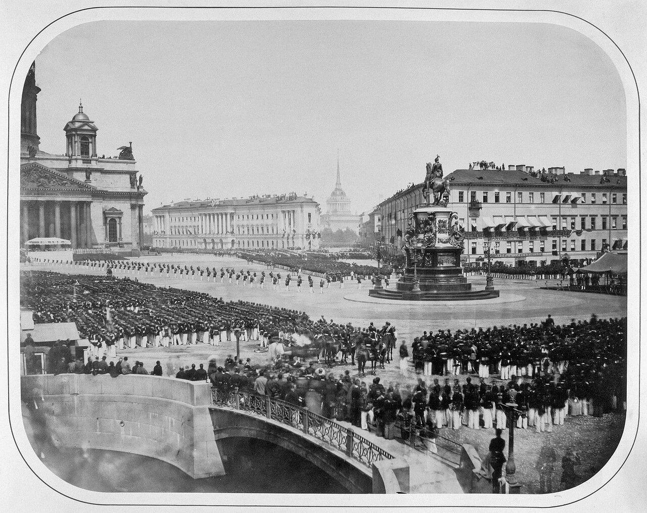 Открытие памятника императору Николаю I на Исаакиевской площади. 1859