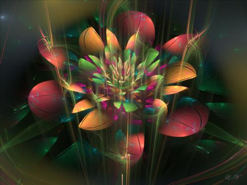 Сказочный цветок.