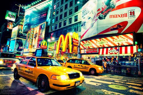 Нью-Йорк и такси большого города