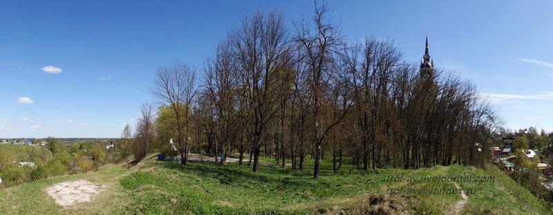 Вид с места Косой башни, Можайский кремль