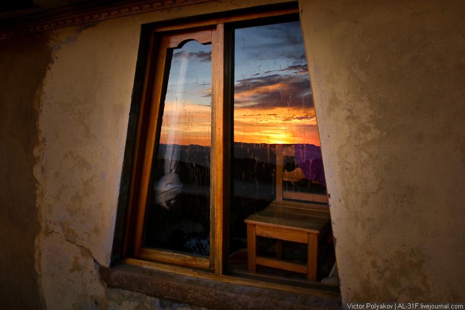 Озеро Титикака. Закат на острове Солнца.