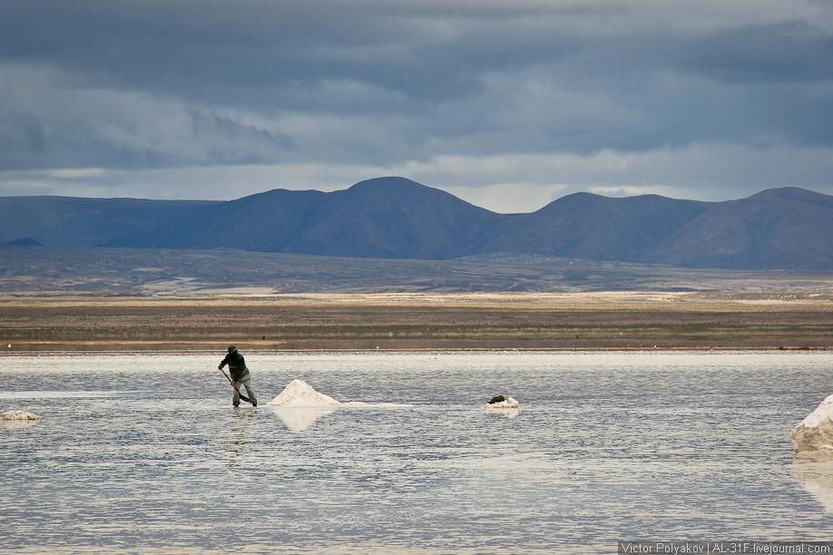 Добыча соли Салар де Уюни