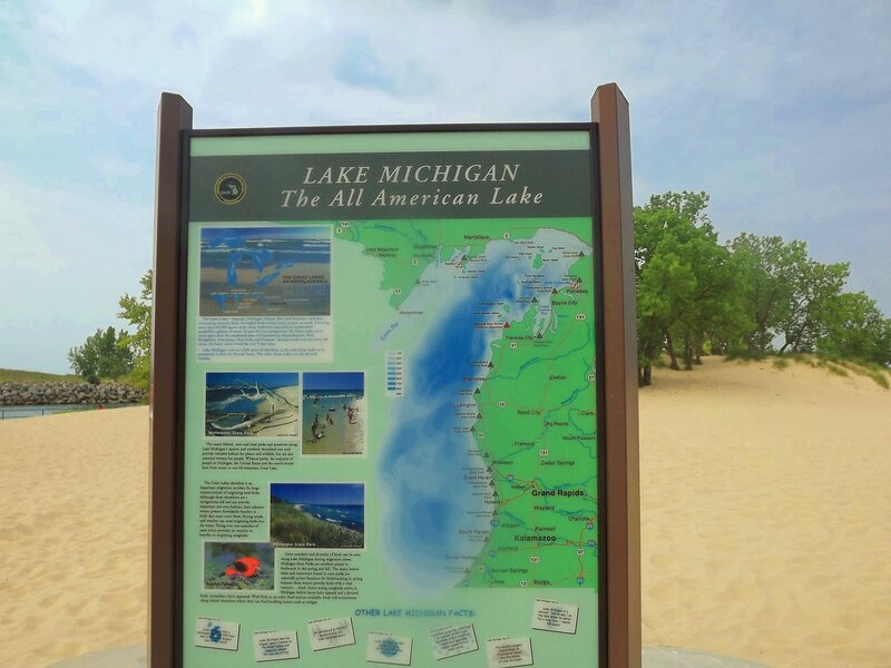 У озера Мичиган.