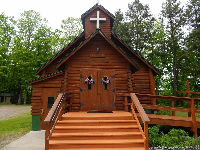 The Little Log Church.