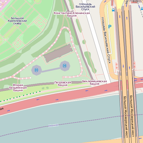 вертолётная площадка в Кремле