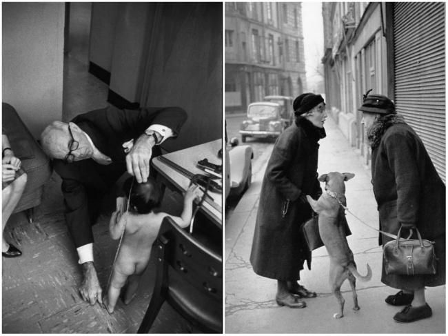 Доктор Спок, 1962 (слева). Без названия, 1952 (справа) Воспринимайте мир как художник Анри Картье-Бр