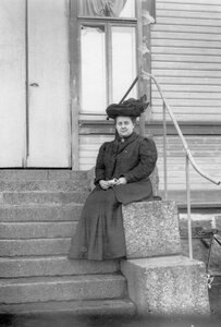 Вдова М.Я.Герценштейна.