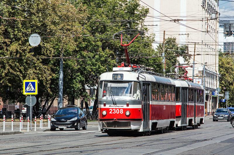 Салон трамвайного вагона