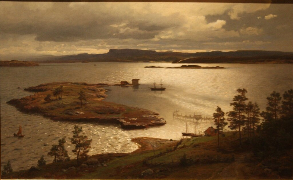 HANS FREDeRIK GUDE, painting Sandviksfjorden (The Sandvik Fiord), 1879. National Museum, Stockholm..JPG