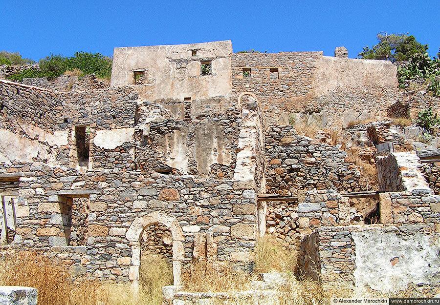 Развалины на острове Спиналонга, Крит