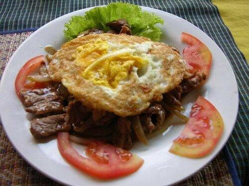 лок лак , кухня Камбоджи фото
