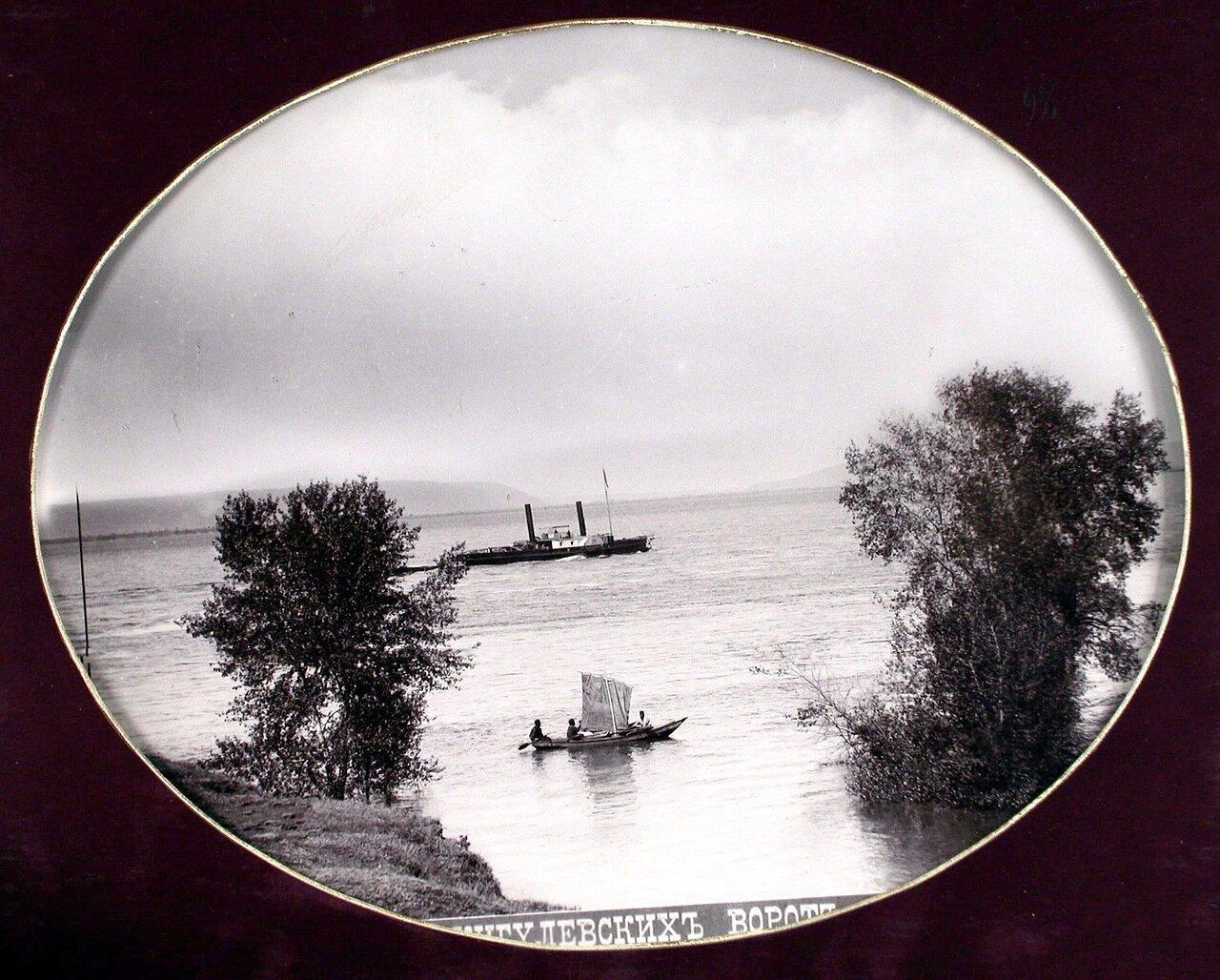14. Вид на Волгу со стороны военного лагеря (жигулевские ворота из Самары)