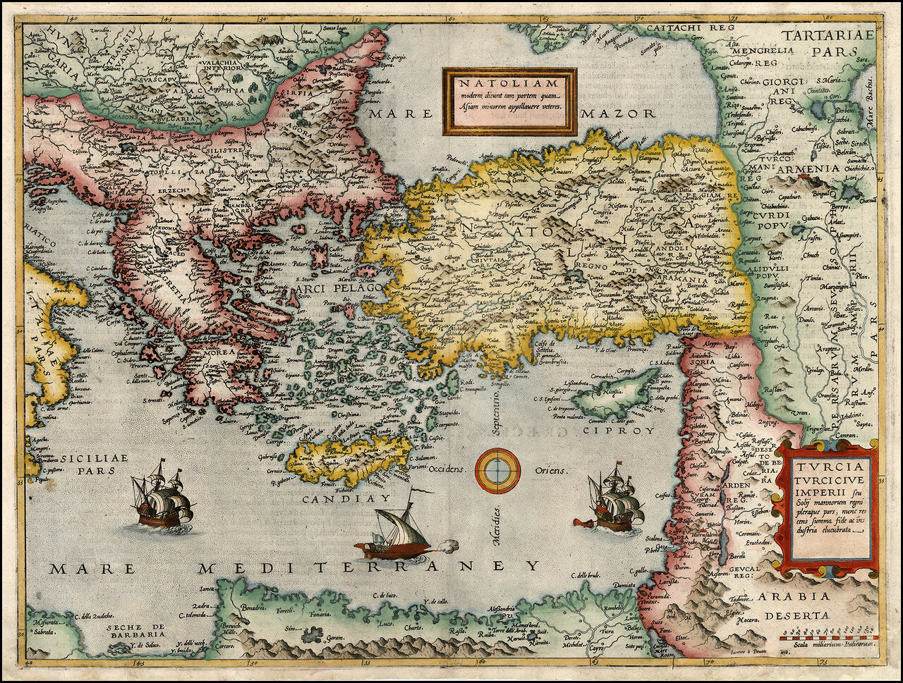 1593. Карта Восточного Средиземноморья