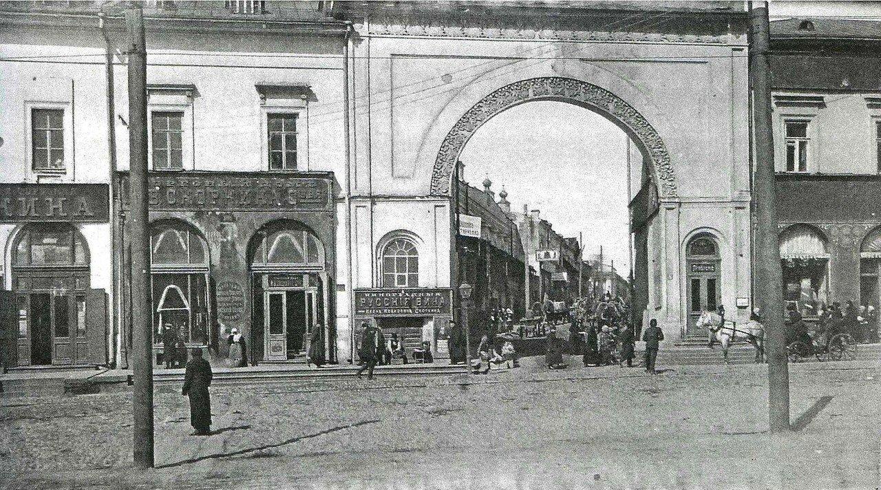 Горяновские ворота и вид на Горяновский переулок