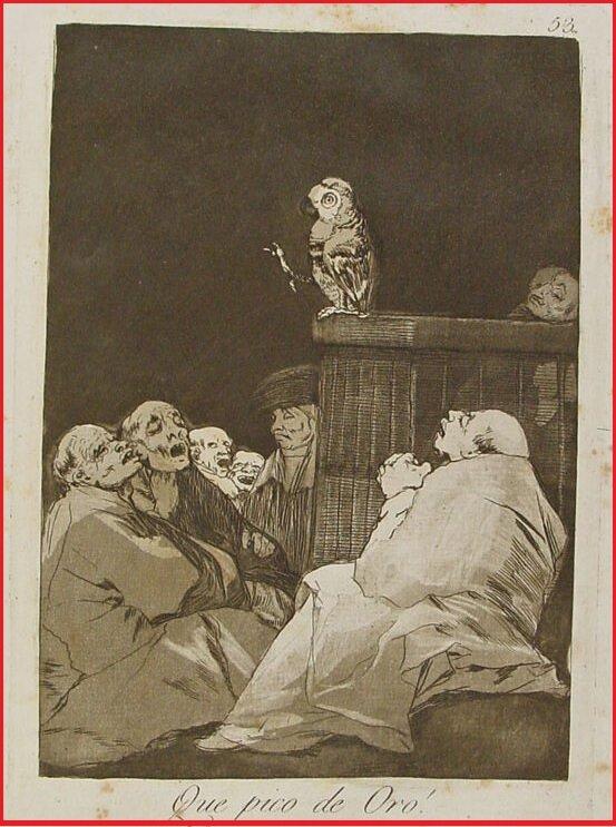 Какой Златоуст (1797-98) Капричос (1799), Франсиско Гойя (1746-1828)