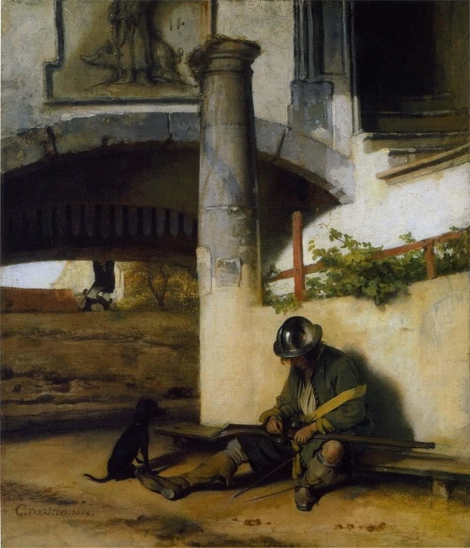 The gate guard (1654) (Страж ворот) Fabritius, Carel  (Фабрициус Карел)(1622-1654)