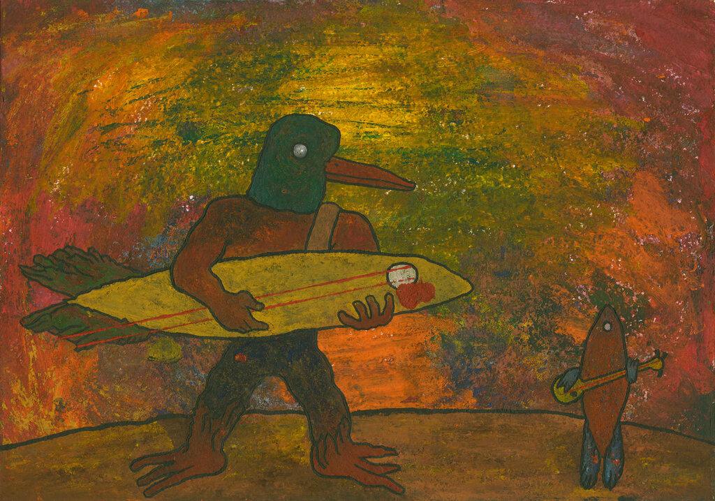 Птицын сделал из рыбы музыкальный инструмент и сколотил фолк-дуэт