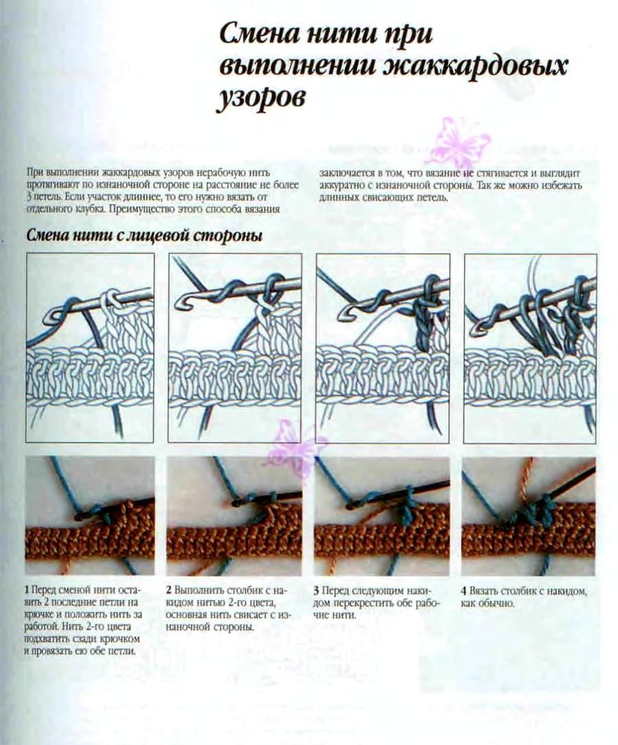 Жаккард без протяжек при вязании по кругу