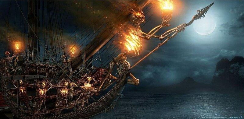 """Концепт-арт к фильму """"Пираты Карибского моря: На странных берегах""""."""