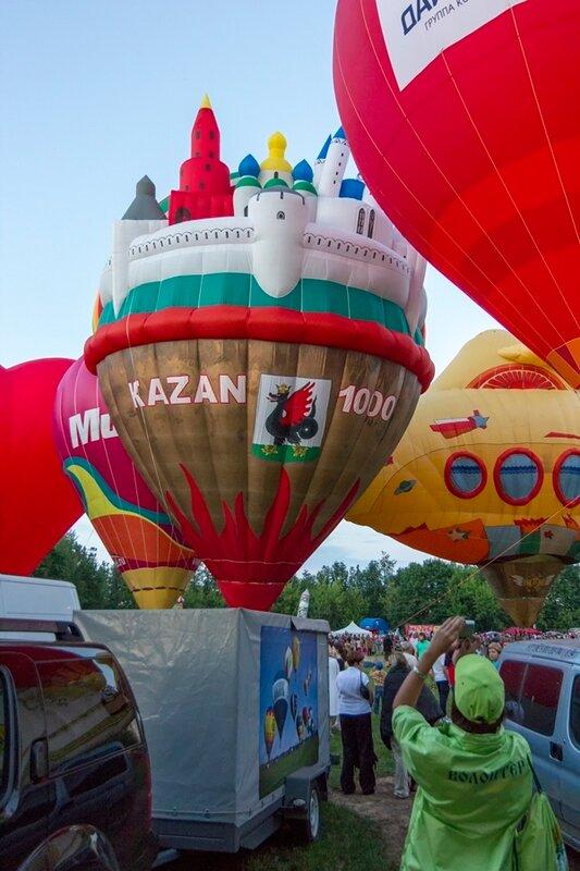 12-й российский фестиваль тепловых аэростатов специальных форм «Небо Святого Сергия», 18 июля 2014 года