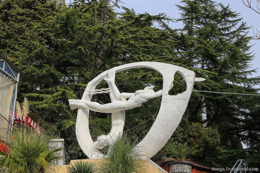 Скульптура плавцы